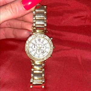 Gold and Austrian crystals Michael Kors watch
